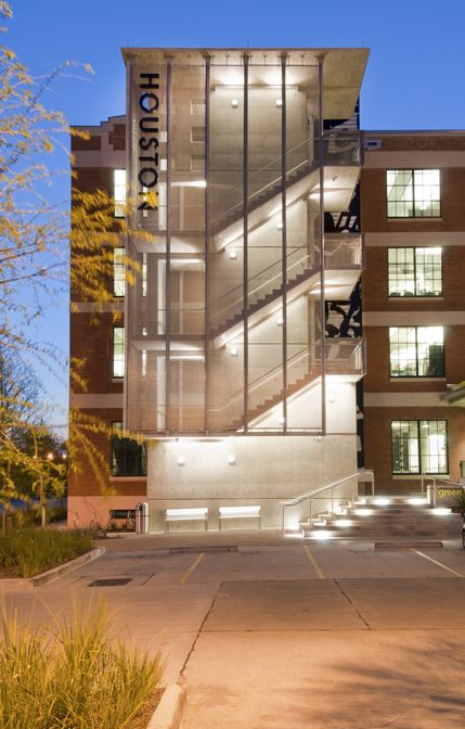 Glass Stair Towers : Modern exterior egress stair and elevator google search