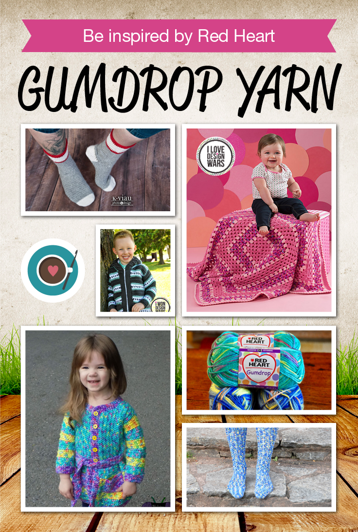 Be Inspired with these crochet patterns for Red Heart Gumdrop Yarn ...