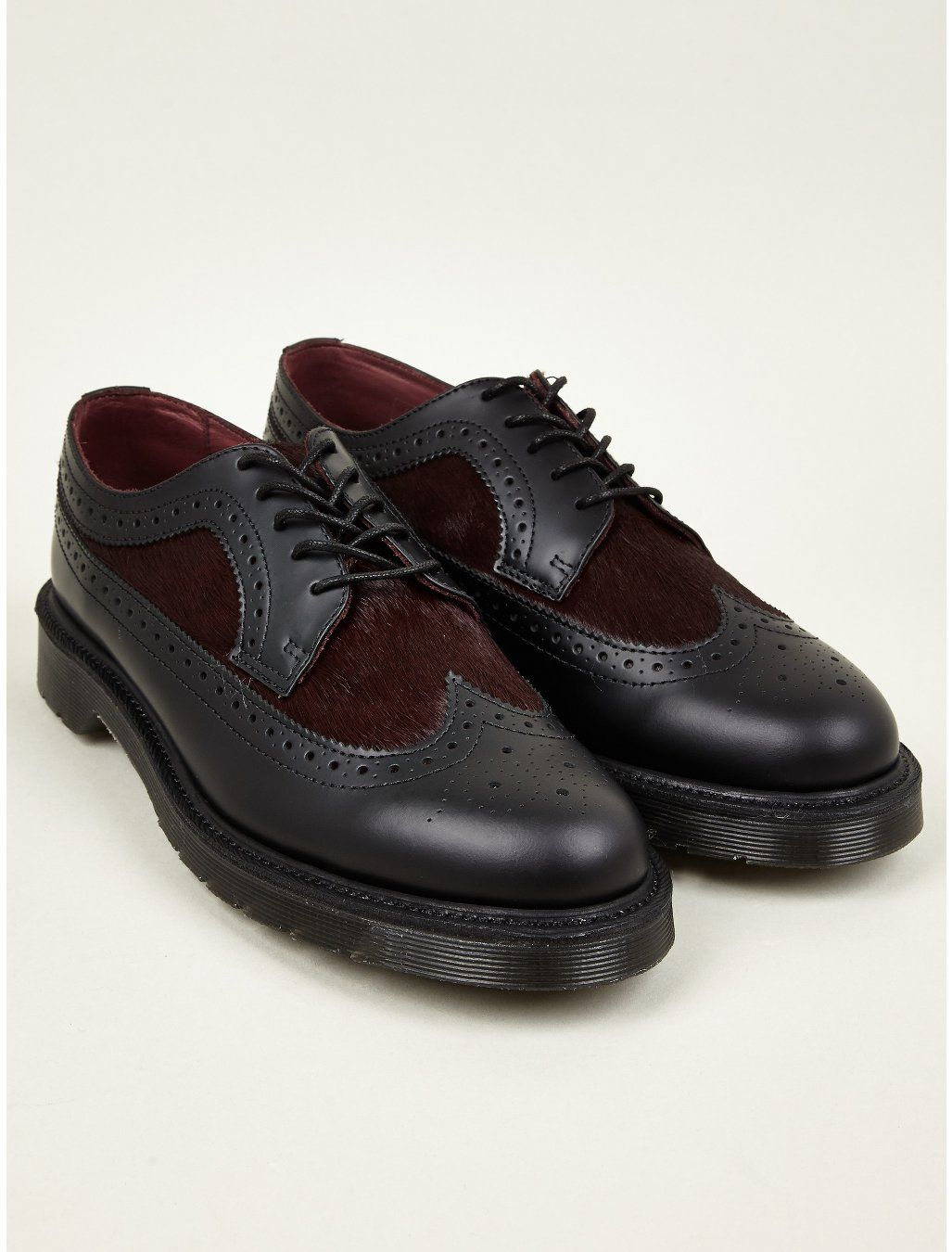 Dr Martens Men's Oxblood Nash Brogue Shoes | oki-ni