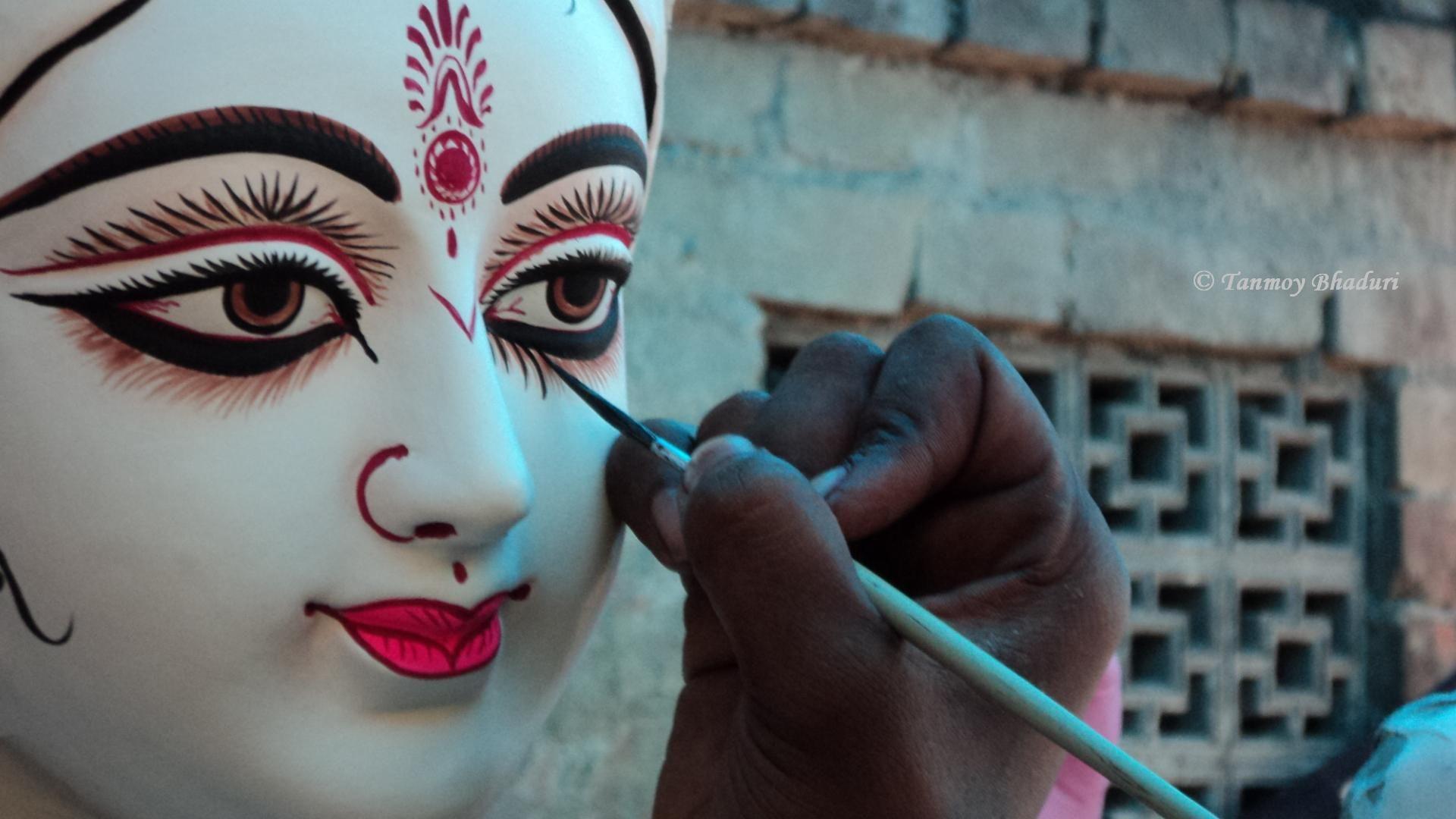 Chakkhudan Of Devi Saraswati India Hindu Goddess Durga Maa Durga Durga Puja