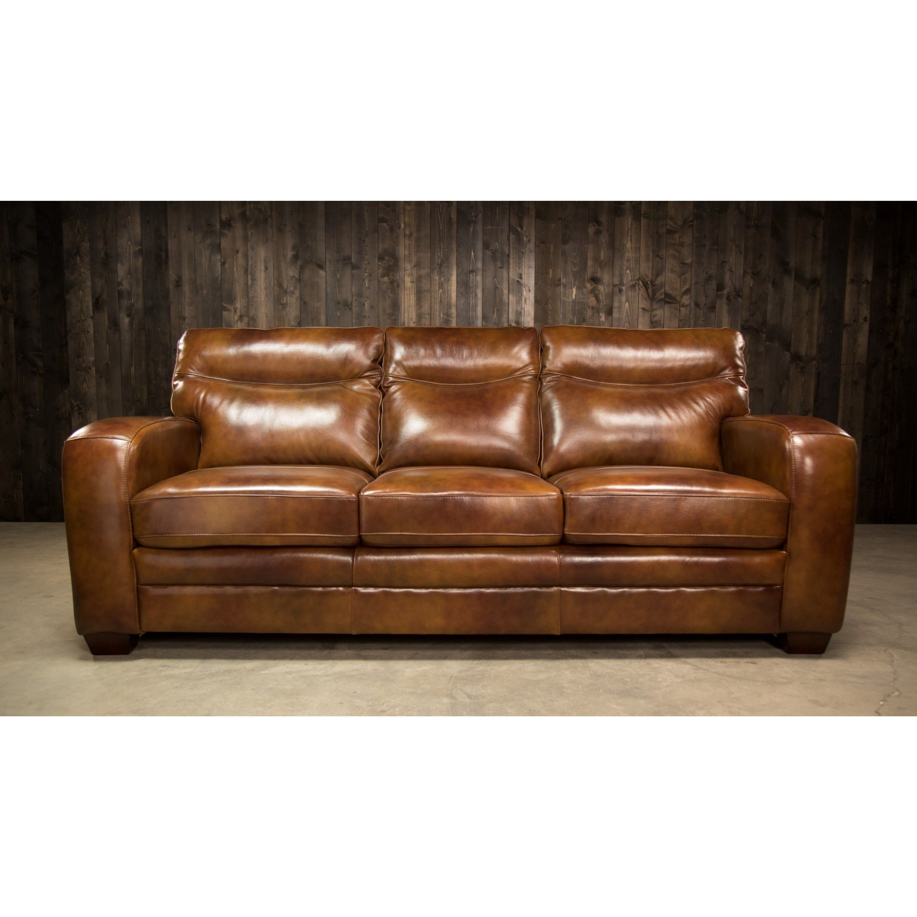 Montebello Leather Sofa With Low Profile Arms By Elements
