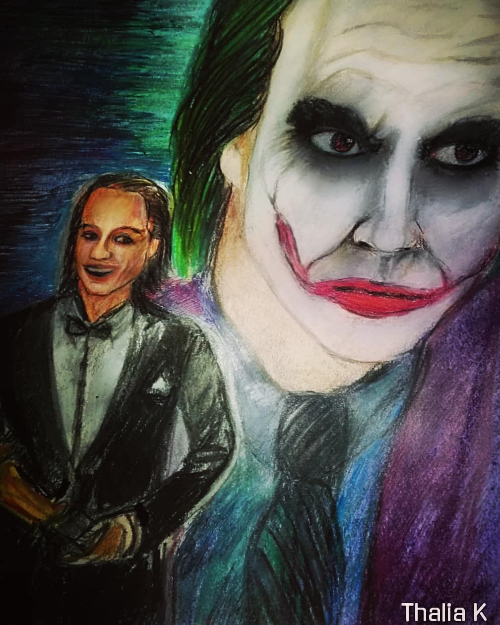 Gotham Halloween Oscars 2020 colourpencils #oscars #heathledger #joker #darkknight #gotham
