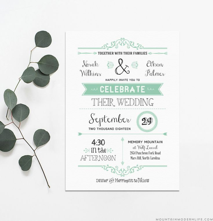 Print Your Own Wedding Invitations Templates: 9 Top Places To Find Free Wedding Invitation Templates
