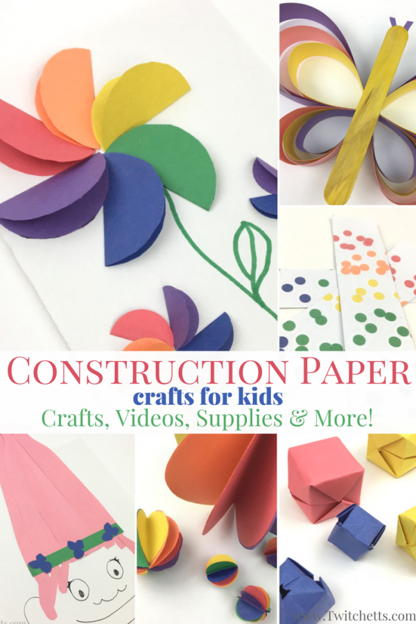 51 Easy Construction Paper Crafts Kid Approved And Amazing Easy