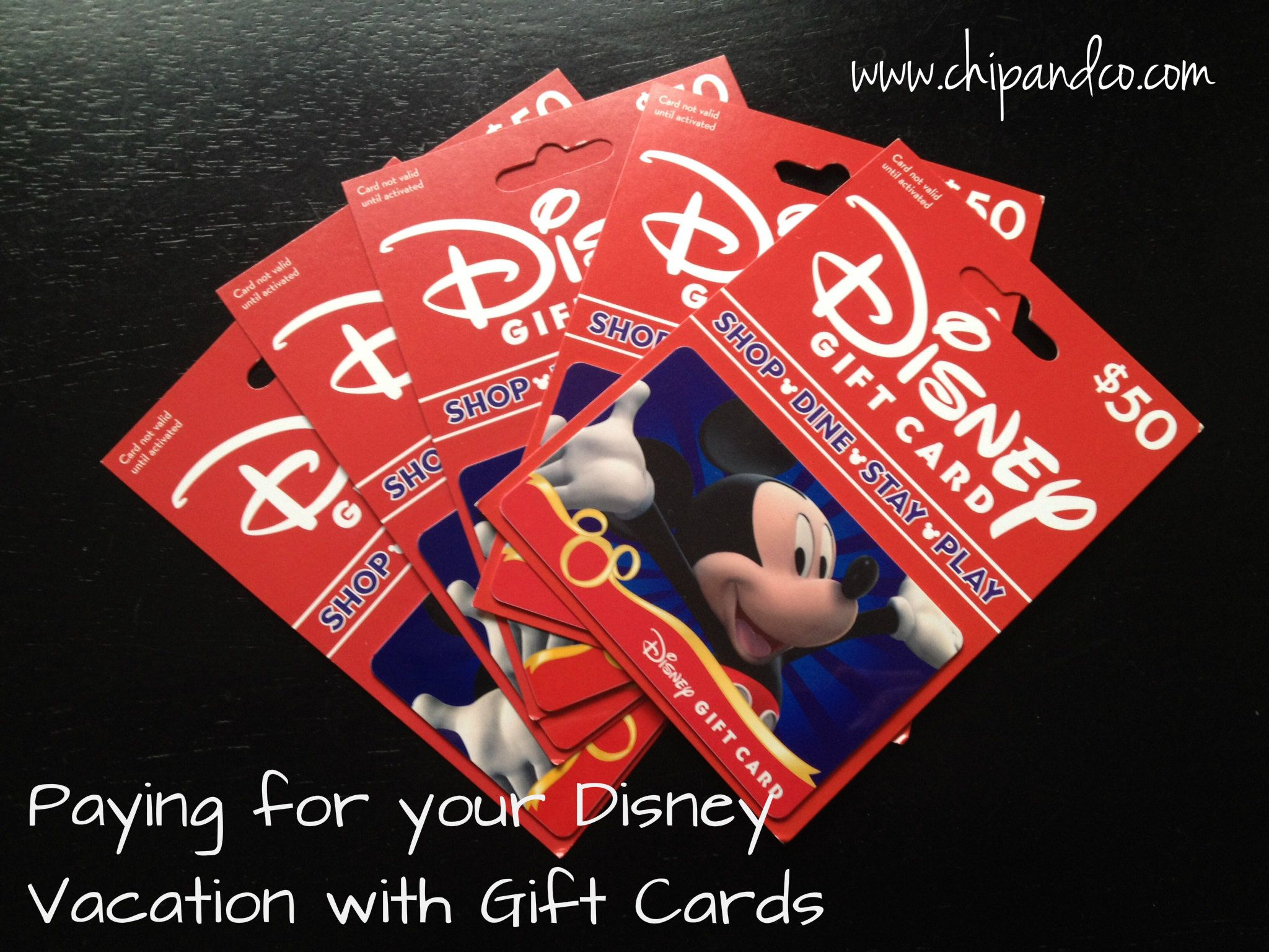 Paying for your Disney Reservation Using Disney Gift Cards ...