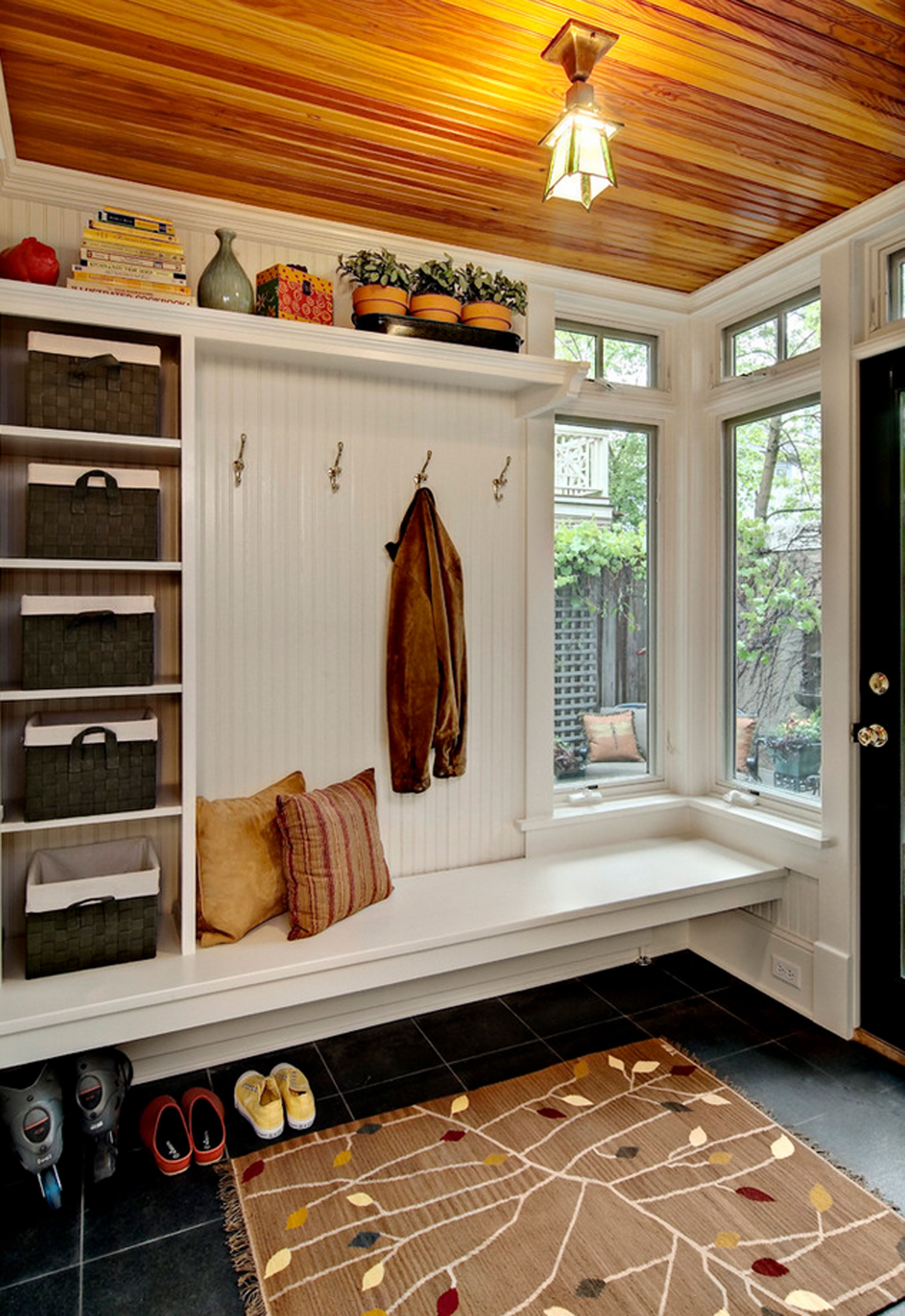 Entryway window ideas  the  elements of a perfect mudroom  mudroom storage baskets and sinks