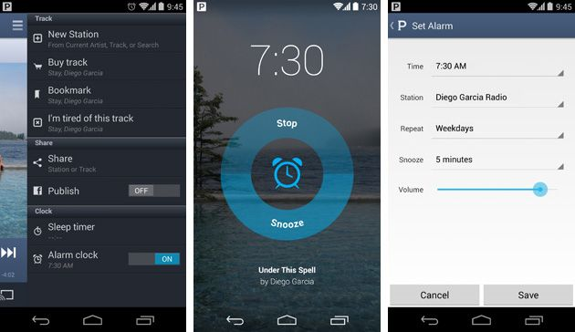 Pandora's Android app gets an alarm clock function, right
