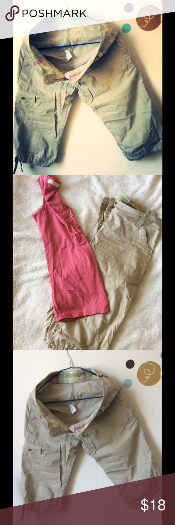 Cargo bermuda shorts/bermuda Cargo bermuda shorts. Beige Quechua Shorts Bermudas