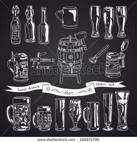 stock-vector-vector-collection-of-beer-glasses-and-bottles-icons-hand-drawn-illustration-with-beer-glasses-180931796.jpg 450×470 pixels