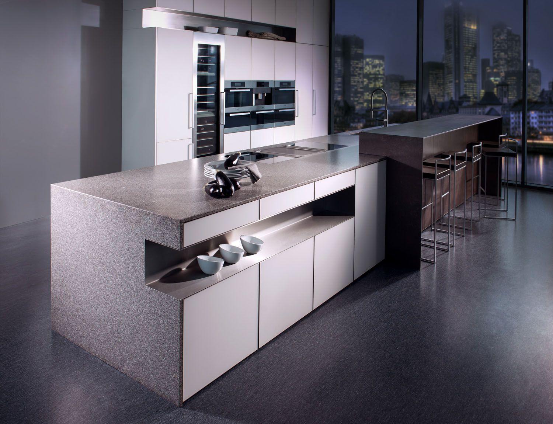 grau dunkel küche farbe idee design inspiration