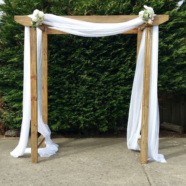 Wedding Altar Hire: Timber Wedding Arch Hire Gippsland