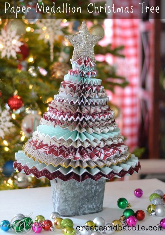 Paper Medallion Christmas Tree {And an Awesome Giveaway}