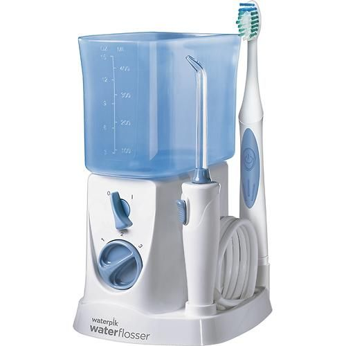 Best Buy - $49.99 - Waterpik - Sonic Toothbrush and Water Flosser - White/Blue - Angle ****AVAILABLE IN STORE*****
