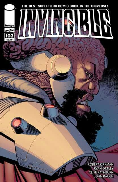 The cover to Invincible #103, art by Ryan Ottley & John Rauch