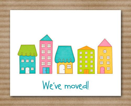 Change of Address Cards / Moving by PaperHouseDesigns on Etsy, $12.00