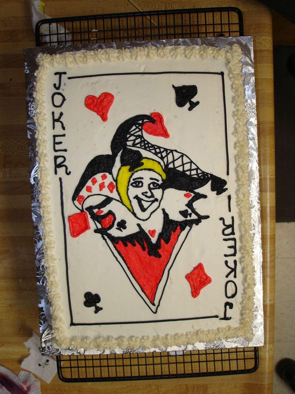 Joker Card Cake Joker Card Card Design Cards