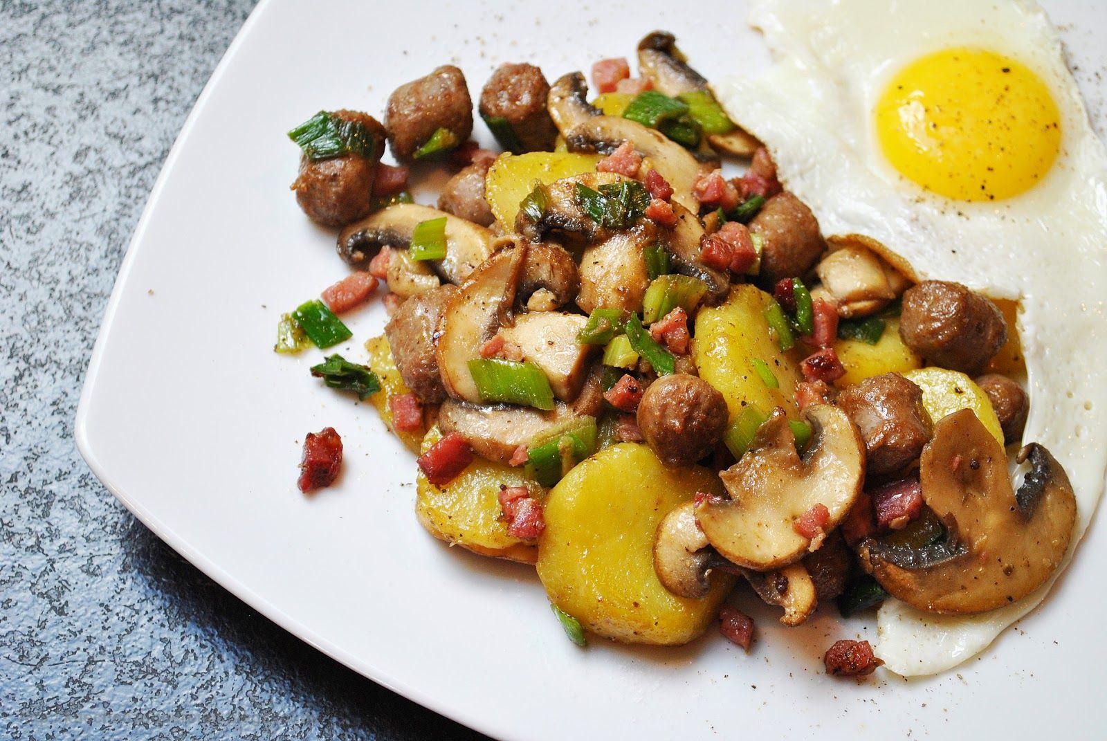 Küchenzaubereien: Deftige Bratkartoffelpfanne mit allerlei Leckerei
