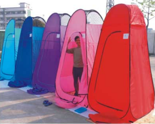 Pop Up Dressing Rooms For Easy Outdoor Changing