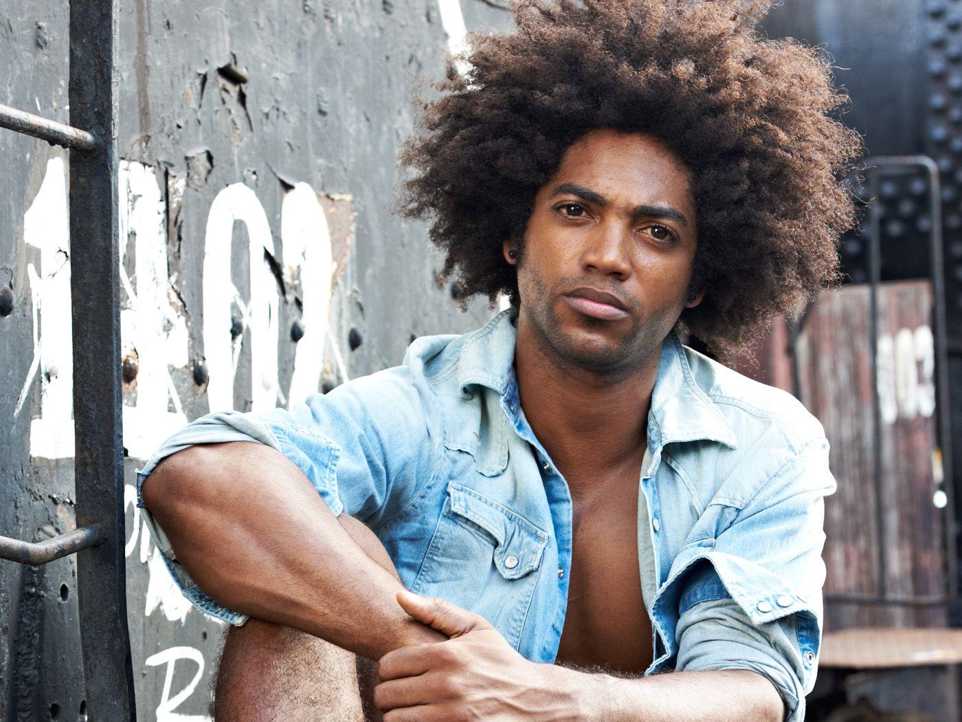 Yosliem Ariosa, black male fashion model from Havana, Cuba.