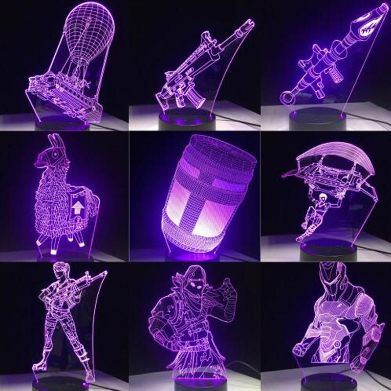 3d Lamp Game Chug Jug Scar Rocket Launcher Gliding Led Night Light Lamp 3d Led Lamp Desk Light
