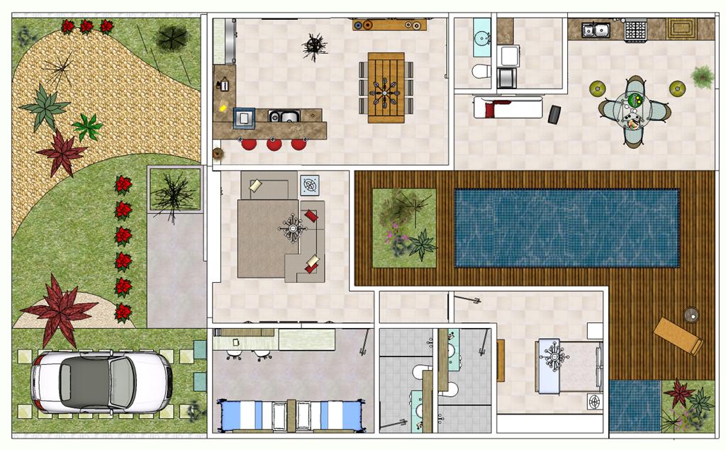 Projetos de piscinas planta baixa arquitetura for Plantas para piscinas