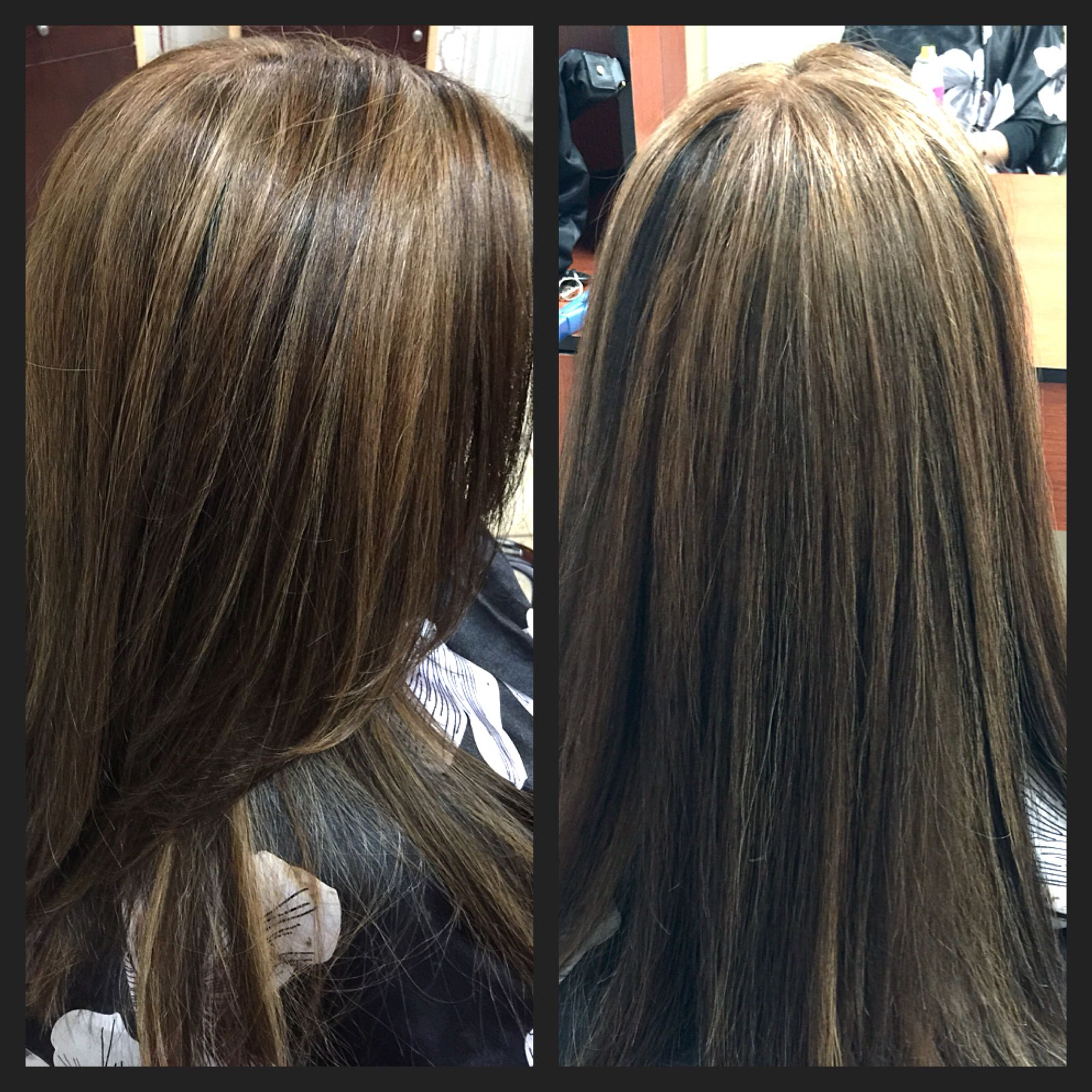 Naturally Black Hair Added Beige Blonde And Caramel Highlights All Over While Keeping Some Of Her Natural For Not Such A Harsh Re Hair Hair Styles Hair Beauty