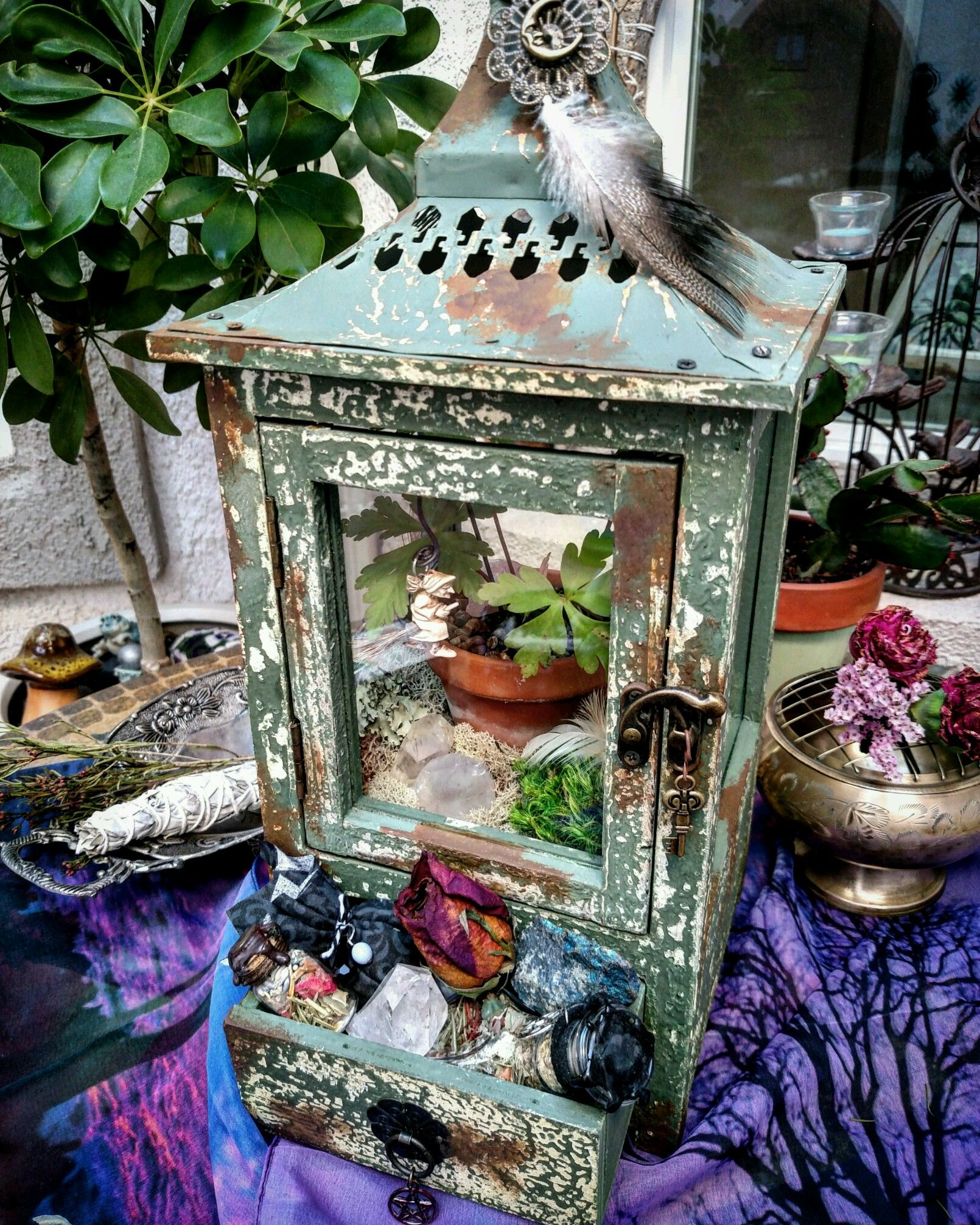 One Of My Witchy Terrariums Pagan Crafts Witchy Crafts Witchy