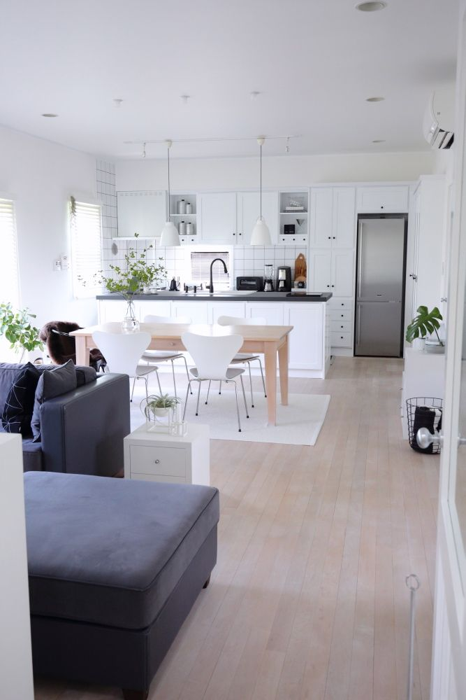 キッチンリフォーム Before After Ldk全体像 ひより ごと 楽天ブログ Home Interior Living Room Kitchen Open Plan Apartment