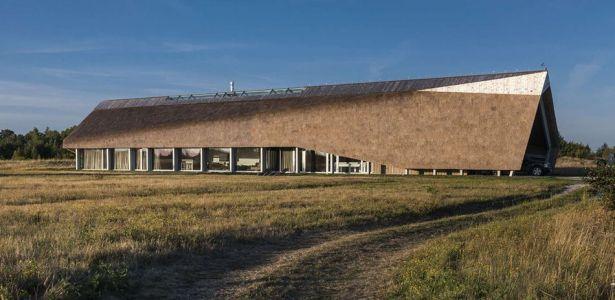 maison contemporaine avec toiture en chaume au bord de mer en lettonie - Maison Moderne Avectoiture