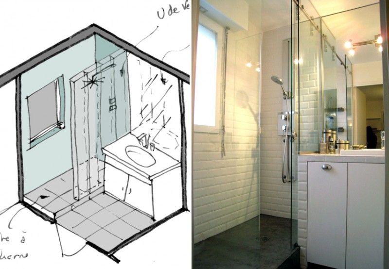 Avec une douche à lu0027italienne, cette petite salle de bain semble - idee de salle de bain italienne