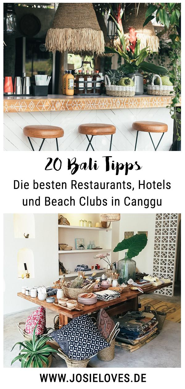 Bali Tipps: Die besten Restaurants, Hotels und Beach Clubs in Canggu.