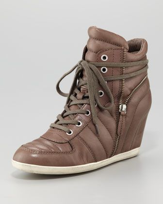 LOVE THESE!  Ash | Quilted Leather Wedge Sneaker - CUSP