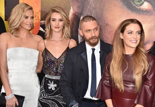 Tom Hardy with part of the femal cast - Mad Max: Fury Road premiere   May 7, 2015   Hollywood   Frazer Harrison and Kevin Winter   Getty Images