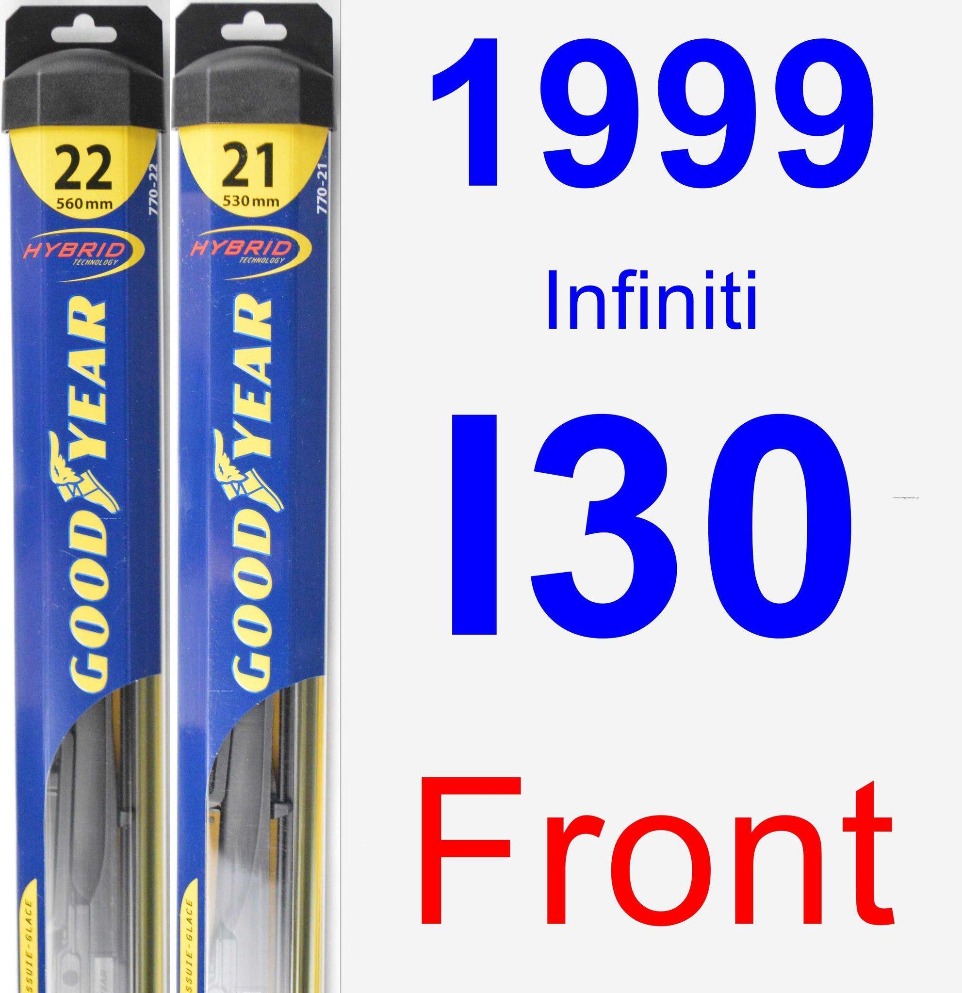 Front Wiper Blade Pack for 1999 Infiniti I30 Hybrid