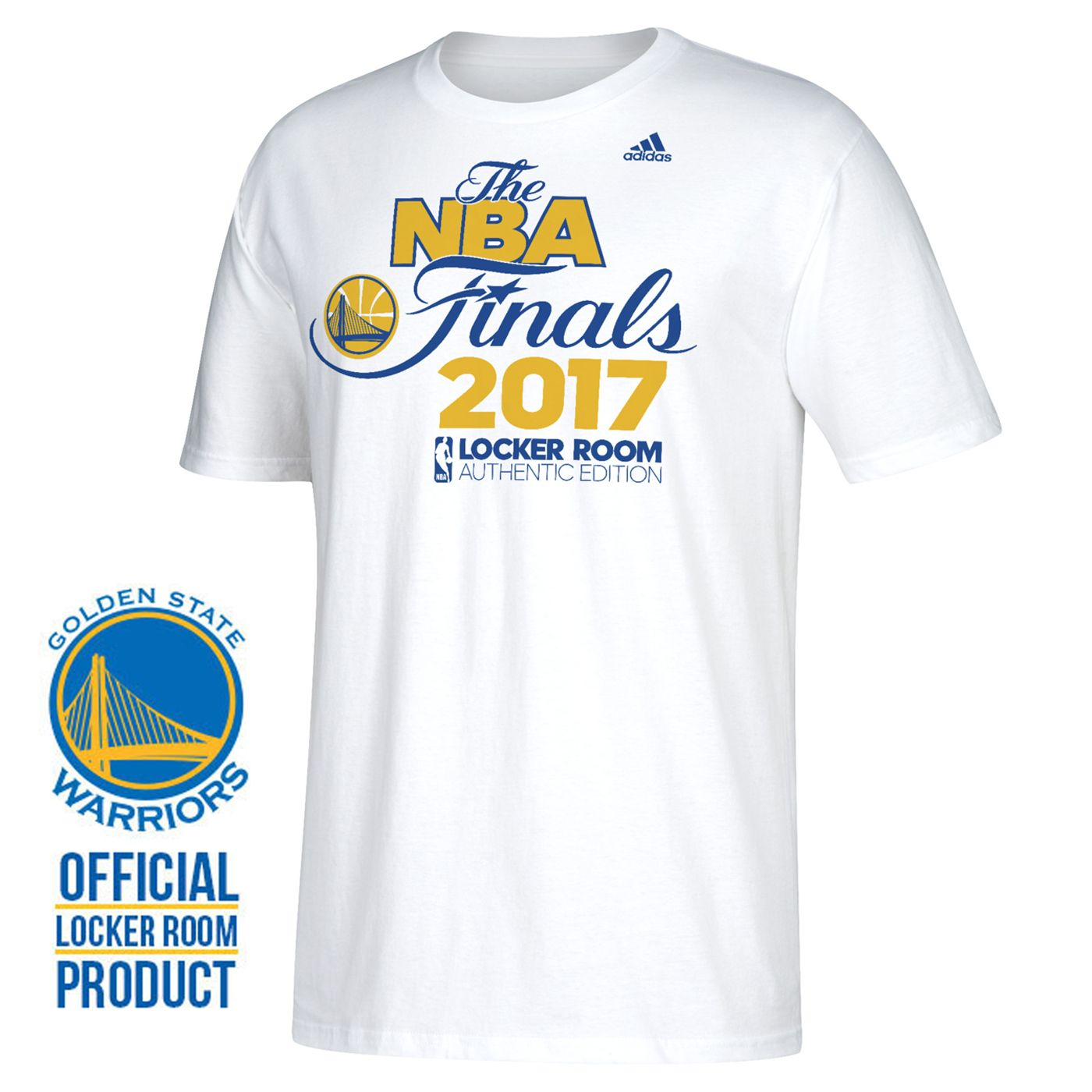 e2265842f93 Golden State Warriors adidas  Onto The Finals  Western Conference Champs  Locker Room Tee - White