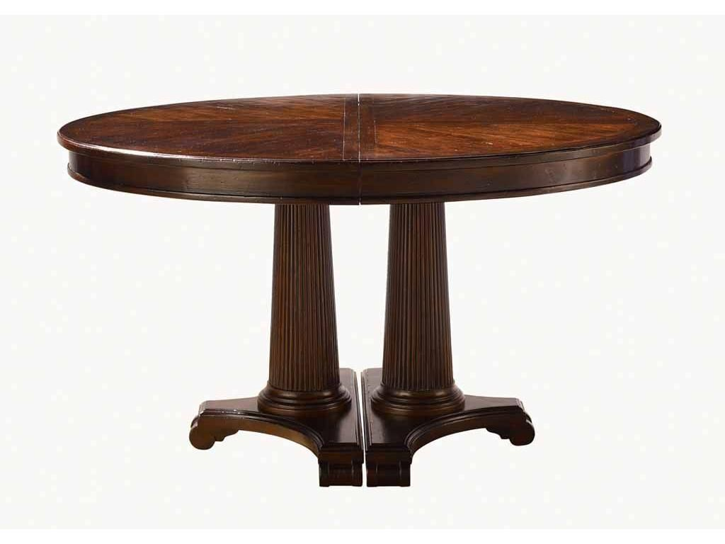 Drexel Heritage Dining Room Empire Oval Pedestal Table 500 620