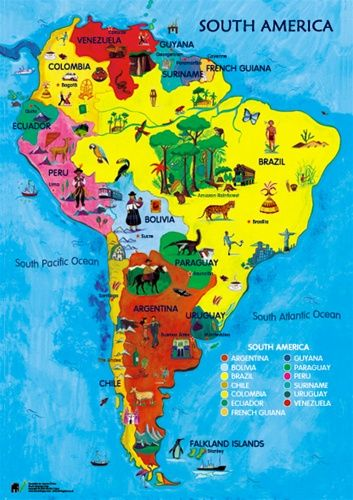 maps of south america and ecuador for kids project | Baston C.E Primary  School - Year 3 | South america map, Latin america map, Maps for kids