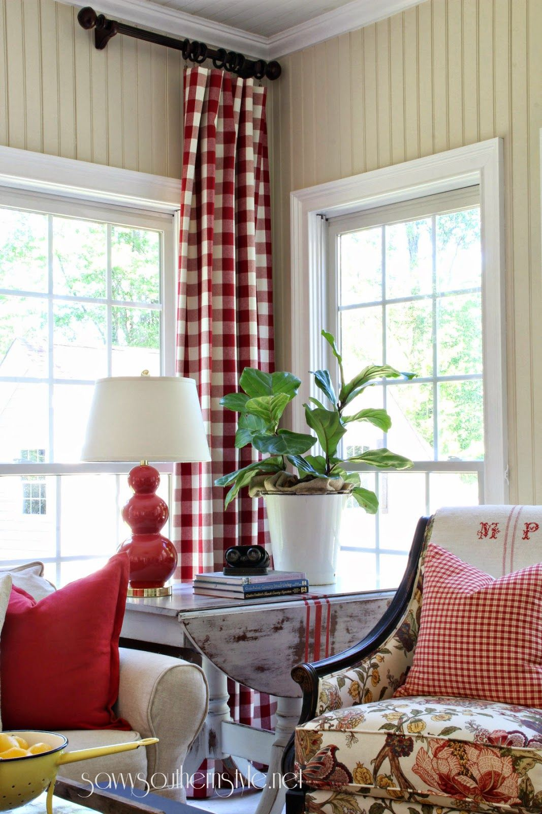 Window treatment ideas for a sunroom  savvy southern style the sun room spring  amazing tour this
