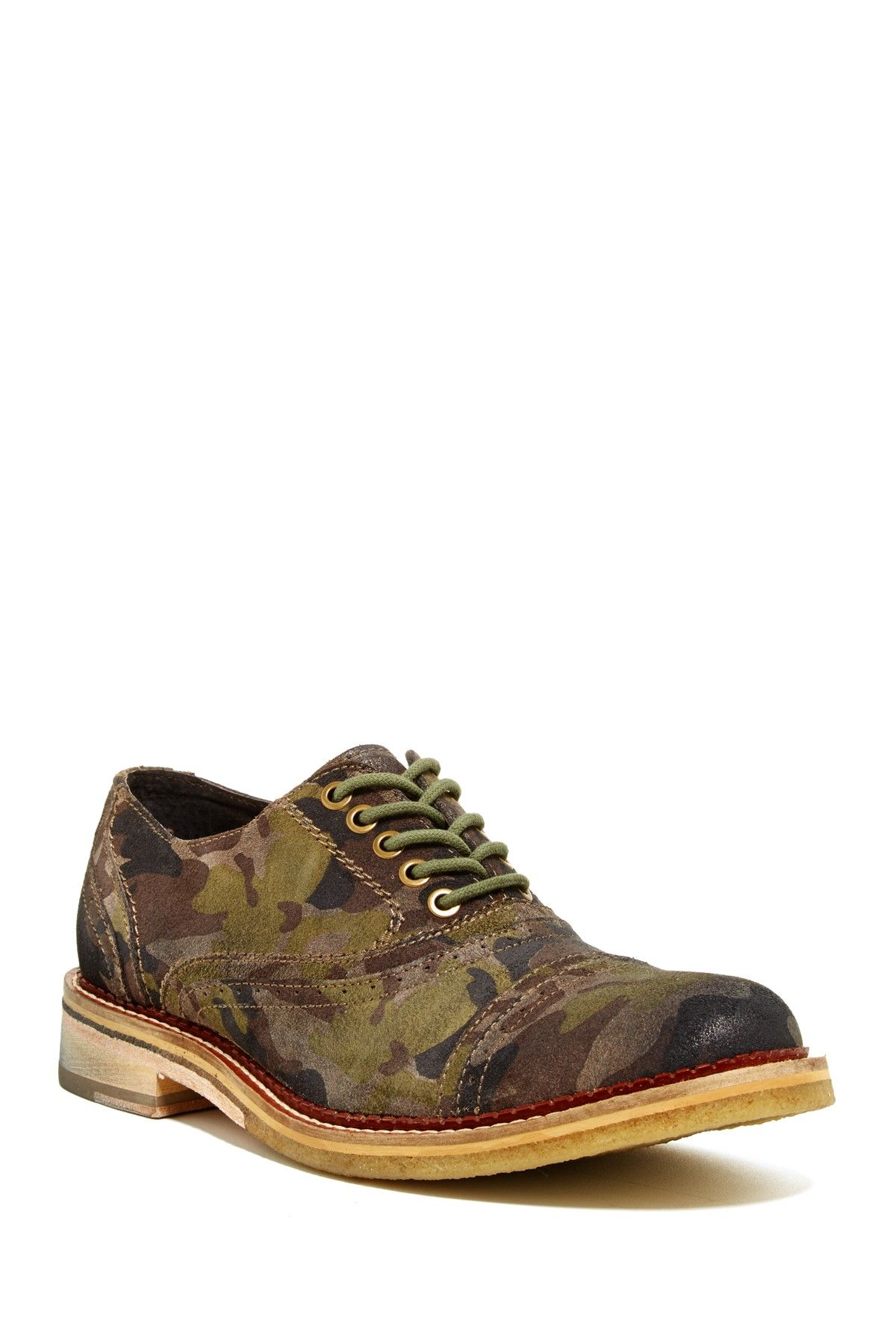 Crepe Along Camo Oxford by Kenneth Cole
