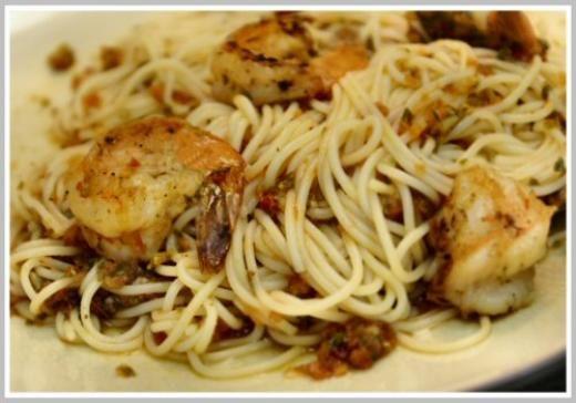 Angel Hair Pasta Pomodoro With Garlic Shrimp By Lymanalo