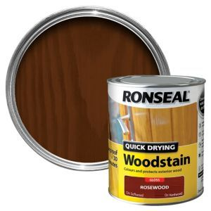 Ronseal Rosewood Gloss Woodstain 0 75l Staining Wood Quick Dry Painted Garden Furniture