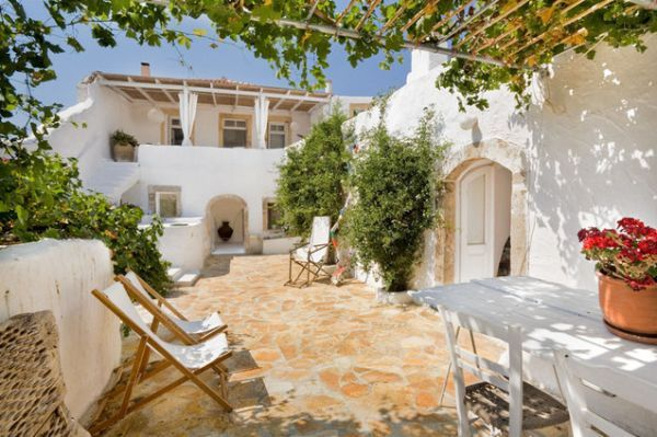 Patio, Summer House, Island Of Kythira, Greece   Mediterranean   Patio    Other Metro   Vanni Archive/Architectural Photography