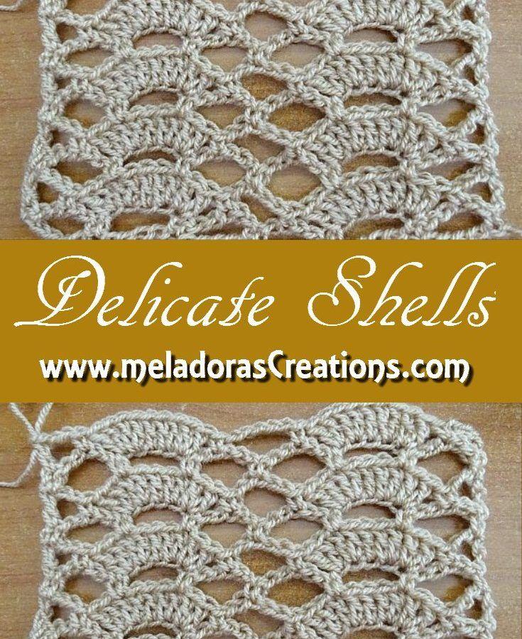 Delicate Shells Stitch – Free Crochet Pattern   Meladora's ...