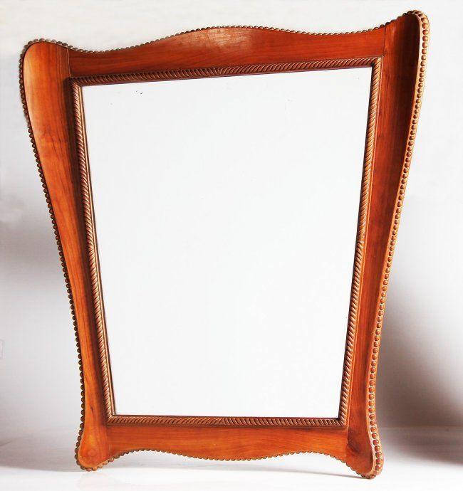 Maurizio tempestini uno specchio con cornice in legno on for Lots specchio