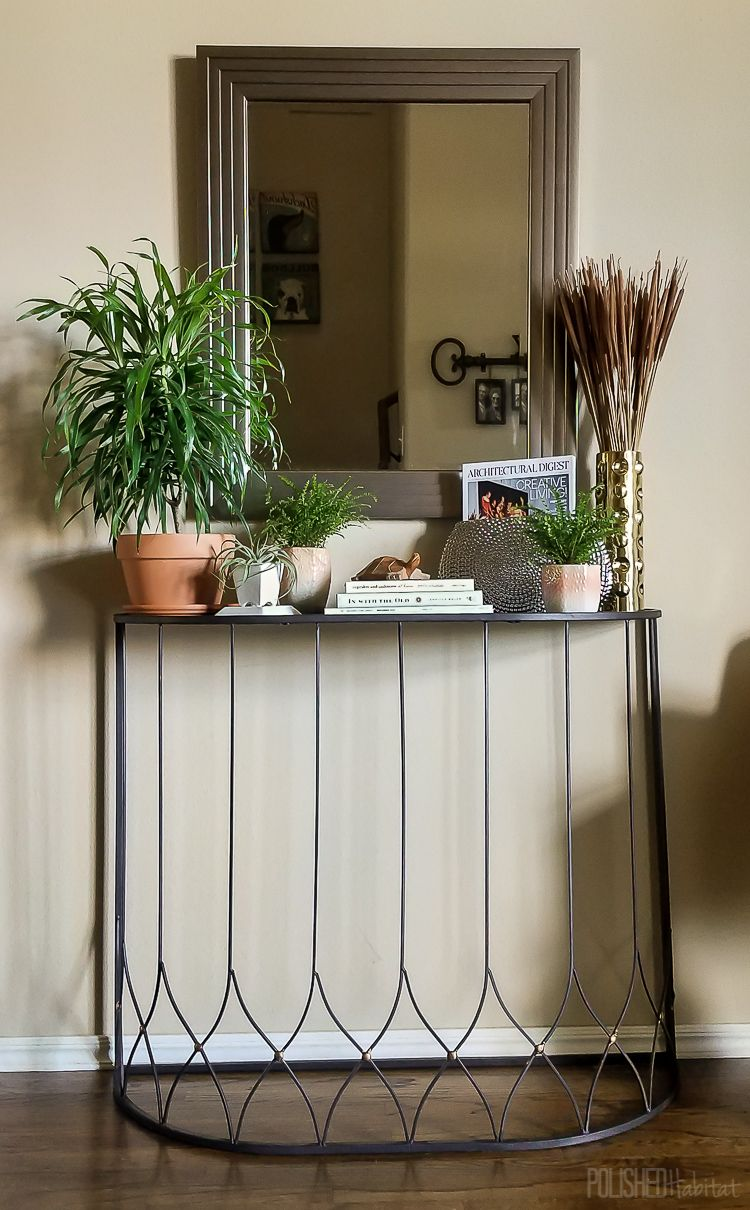 Hallway furniture habitat  Get a HighEnd Look for Less Entryway Makeover  Organized entryway
