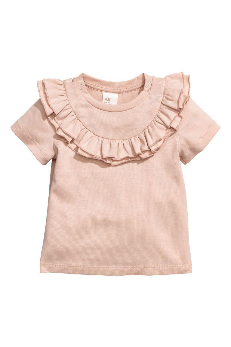 H&m dusty pink dress  Frilled top  Powder pink  Kids  HuM   HM Marta SS  Pinterest