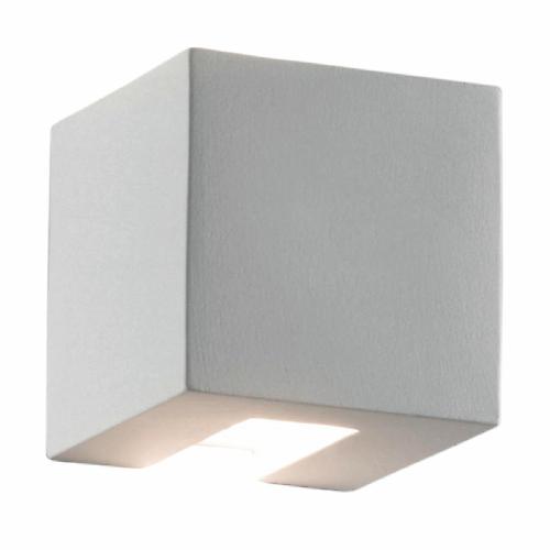 Applique Cubo Bianco In Ceramica 11x11 Cm G9 Max48w Ip20 Prezzi E Offerte Online Leroy Merlin Leroy Merlin Leroy