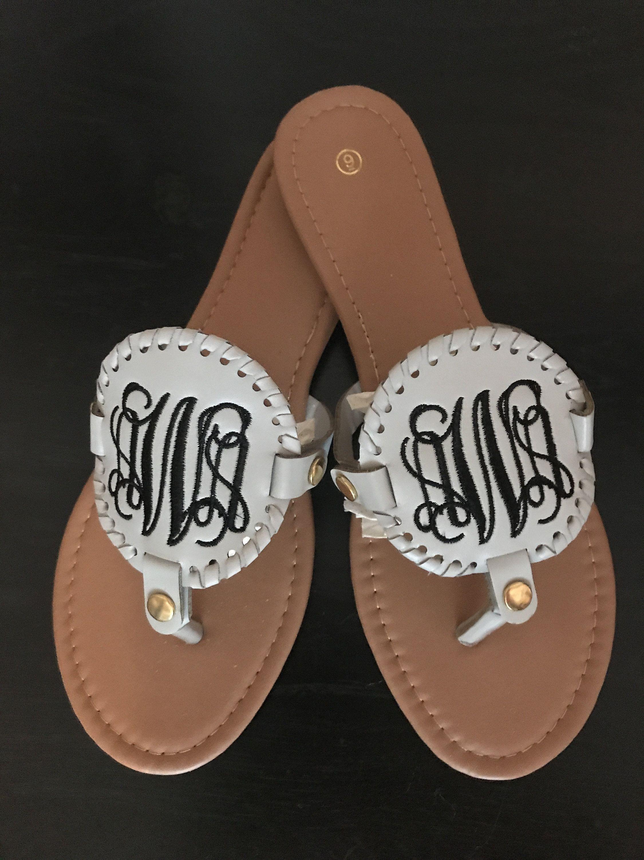 personalized sandals flip flops pool sandals Wedding sandals bridesmaid sandals Sandals monogrammed summer sandal Monogrammed Sandals