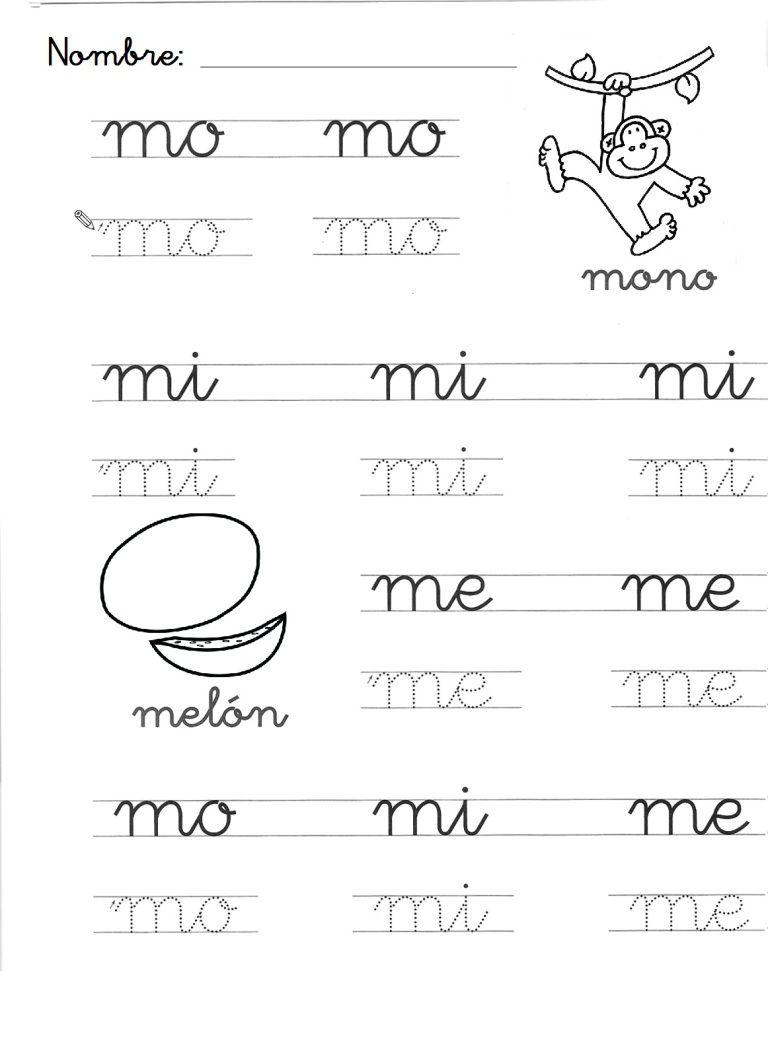 Letra M Para Imprimir Cursiva
