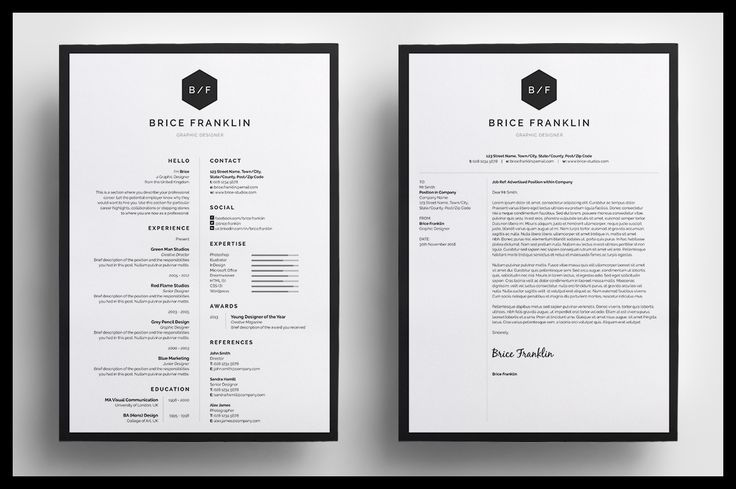 Introducing u0027Briceu0027, a simple, vertical #design which includes a - single page resume